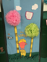 Teachers Decorate Doors for Dr. Seuss