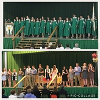 Students inducted to National Honor Society and Spanish National Honor Society