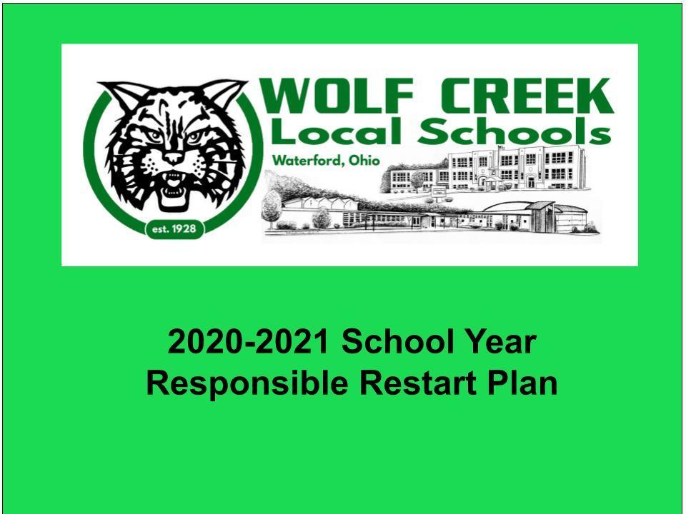 Wolf Creek Local School District  Opening of School August 2020
