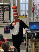 Mrs. Brightbill is the Cat in the Hat