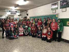 W.E.S Teachers Celebrate Ugly Sweaters!